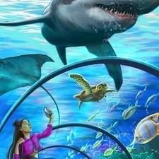 A visit in the wonderful aquarium.