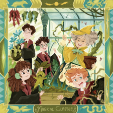 """LitJoy Crate magical Subscription theme. Harry Potter series """"Magical Classes"""""""