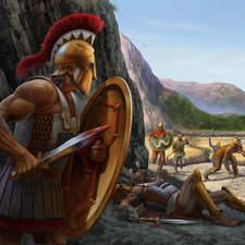 Thermopylae Battlefield-Educational illustration