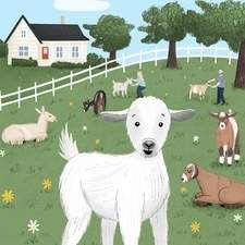 Tiny Think Tales - An illustration for a picture book based on a goat farm.