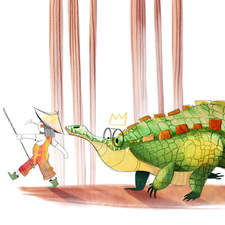 The crocodile and the little girl