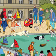 Where is the dog in Luxembourg Gardens (Paris)?