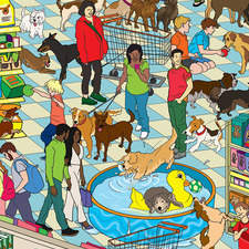 Where is the dog in Pet Store?