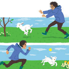 Chasing the little sheep. Fun is everywhere. :-) [ based on character designs by Gustavo Mazali ]