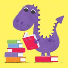 Dinosaur likes to read