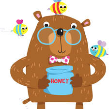 Bear and honey bees