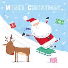 Santa goes sledging