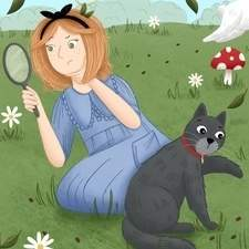 A cover for a modern re-telling of Alice in Wonderland.