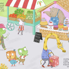 Portfolio piece, double page spread, completed on a course, words by Jennie Stevenson
