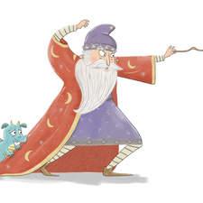 Wizard using magic