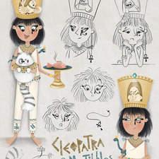 Cleopatra & Mr. Tibbles - Emotions page Text Copyright © 2021 Zoë Tucker  Illustrations Copyright © 2021 Serineh Eliasian