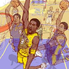 Personal work, Portrait of Kobe Bryant