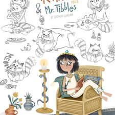 Cleopatra & Mr. Tibbles - Poses page Text Copyright © 2021 Zoë Tucker  Illustrations Copyright © 2021 Serineh Eliasian