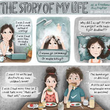 The story of my life as a freelance illustrator - Part 1 Text & illustrations copyright © 2020 by Serineh Eliasian