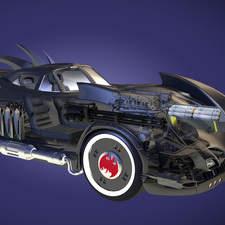 Batmobile Cutaway