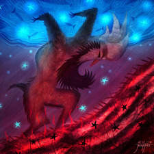 a magical creature bearing stars