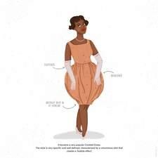 The Bubble Dress, 1954 tribute to fashion designer Pierre Cardin (1922-2020)