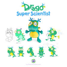 Client: TED - The Entertainment Department. Project: Cheeky Monsters. The development of 5 Cheeky Monster characters. Drago.