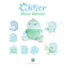 Client: TED - The Entertainment Department. Project: The development of 5 Cheeky Monster characters. Glitter.