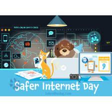 Boken the Dog. Social Media Post. Safer internet day.