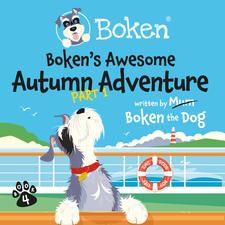 Boken the Dog. Logo design and Book Cover Illustration
