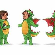 Character Design - Child in Dragon Onesie (originally 2018)
