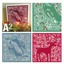 A2 is a collaboration with a creative sibling.  Christmas cards sold at markets, fairs and online.