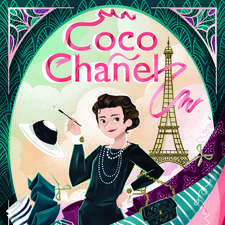 Cover artwork for Coco Chanel bio book. (personal work not pubblished)