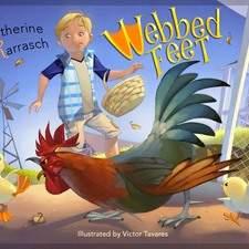 "Artwork for the book ""Webbed feet""- written by Katherine Karrasch - USA"