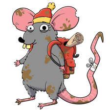 Maureen rat - Artwork for an educational animation.