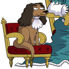 King Charles I - Artwork for an educational animation.