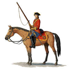 British dragoon circa 1750.