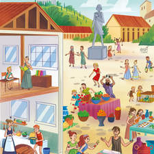 This illo was made for MacMillan Educational book