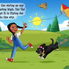 Playing with a kite