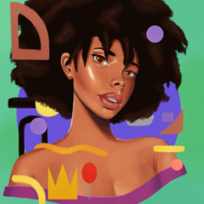 Digital art - Malawian girl