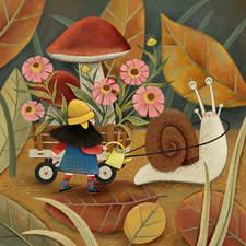Aya, snail and mushrooms