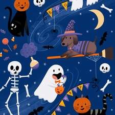 Halloween Party - Illustration for a Halloween collection