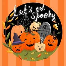 Let's Get Spooky - Illustration for a Halloween collection