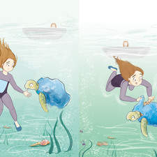 Illustrations for Bye-Bye Turtle, Collins Peapod Readers (Katie Foufouti author)