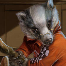 """The Wind in the Willow The Badger drew himself up, took a firm grip of his stick with both paws, glanced round at his comrades, and cried """"The hour is come! Follow me! And flung the door open wide."""