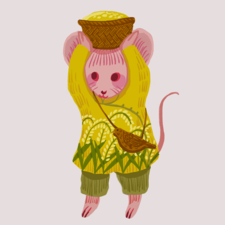 Little mouse from the far far away rice field