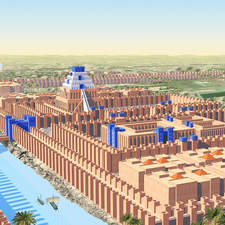 view of the Ancient Babylon