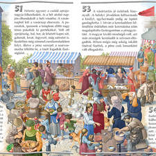 fair scene in the medieval Hungary