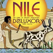 "Cover illustration for ""Nile"", a card game, published by Minion Games."