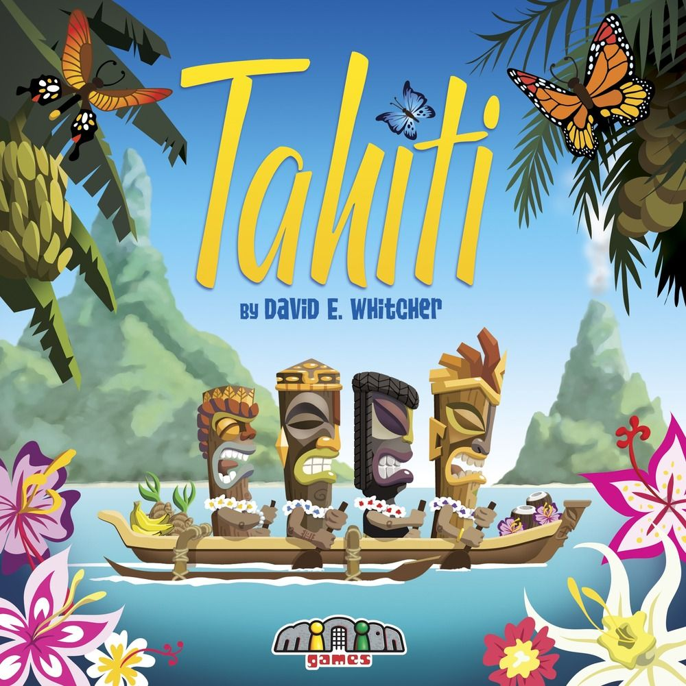 "Cover illustration for ""Tahiti"", a boardgame, published by Minion Games."