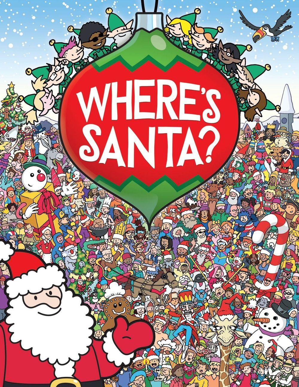 "Cover Illustration for ""Where's Santa?"", published by Buster Books, an imprint of Michael O'Mara Books."