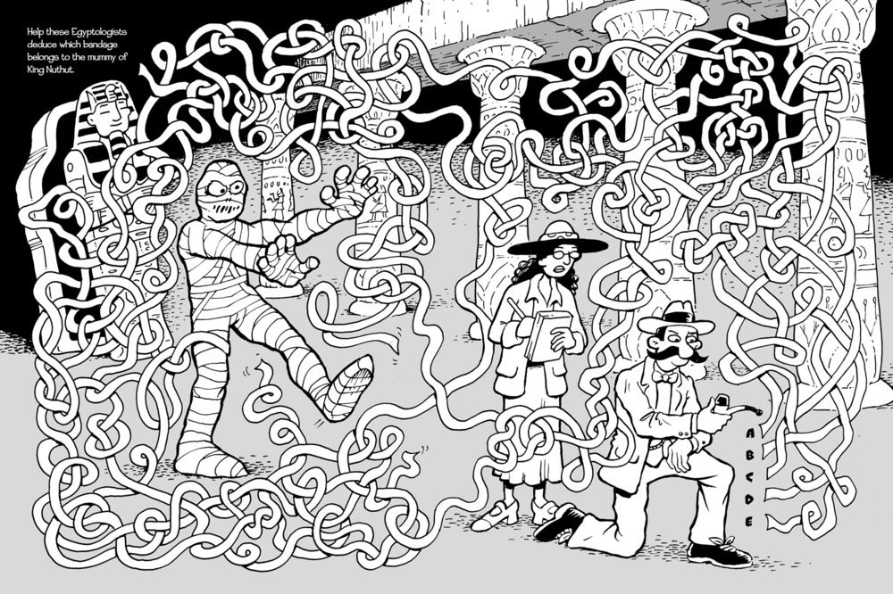 "Maze puzzle for ""Treasure Hunters Activity Book"", published by Dover Publications."