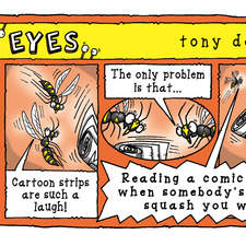 cartoon strip featuring bugs