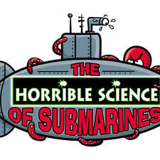 logo design and illustration for Horrible Science of Submarines Exhibition