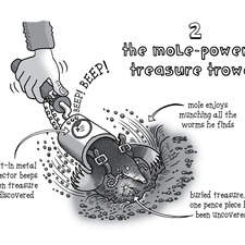 Animal Gadget - the mole-powered treasure trowel